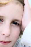 Criança pensativa Foto de Stock Royalty Free