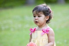 Criança pequena bonito ao ar livre Fotos de Stock Royalty Free