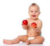Criança pequena com maçã Imagem de Stock Royalty Free