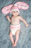 Criança pequena com orelhas de coelho. Imagem de Stock Royalty Free