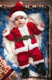 Criança pequena de Santa Imagem de Stock Royalty Free