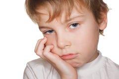 Criança pequena do retrato, fatiga Imagens de Stock