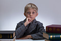 Criança pequena no revestimento de mistura de lã Imagem de Stock Royalty Free