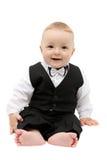 Criança pequena no terno Fotografia de Stock Royalty Free