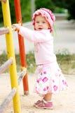 Criança perto das barras imagens de stock royalty free