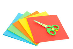 A criança plástica scissor Imagens de Stock Royalty Free