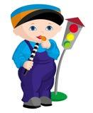 Criança - polícia Imagens de Stock Royalty Free