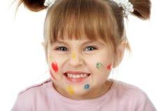 Criança Prankish Fotos de Stock