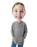 Criança principal grande engraçada Fotos de Stock Royalty Free