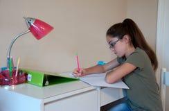 Criança que faz trabalhos de casa Imagem de Stock