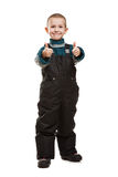 Criança que gesticula o polegar acima Imagens de Stock Royalty Free
