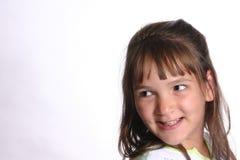 Criança que olha direita Imagens de Stock Royalty Free