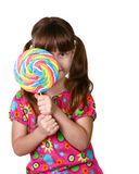 Criança que olha do grande otário de trás foto de stock royalty free