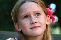 Criança receosa foto de stock royalty free
