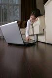 Criança só na HOME Imagens de Stock