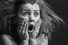 Criança Scared fotos de stock