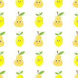 Criança sem emenda do teste padrão do limão da pera Fotografia de Stock Royalty Free