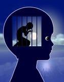 Criança solitária Imagem de Stock Royalty Free