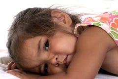 Criança sonolento imagens de stock