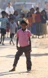 Criança suja com corações bonitos e sorriso doce Fotografia de Stock Royalty Free