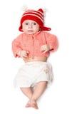 Criança surpreendida em um salto Foto de Stock Royalty Free