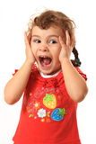Criança surpreendida, surpresa grande Imagens de Stock Royalty Free