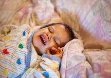 Criança Tired após o banho fotografia de stock royalty free