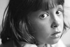 Criança triste, furada, daydreaming Imagens de Stock