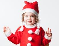 Criança vestida como Santa Foto de Stock Royalty Free