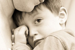 Criança virada Foto de Stock