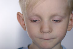 Criança virada Imagens de Stock Royalty Free