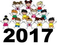 Crianças étnicas misturadas 2017 Imagem de Stock