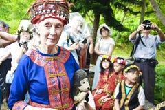 Crianças aborígenes do Dr. Jane Goodall em Taitung 2 Imagens de Stock