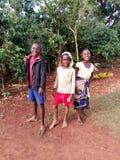 Crianças africanas no riso de Uganda do distrito de Kapchorwa Foto de Stock Royalty Free