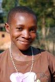 Crianças africanas que sofrem do vírus do SIDA na vila de Pom Fotografia de Stock