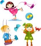 Crianças ajustadas ilustração do vetor