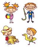 Crianças ajustadas Foto de Stock