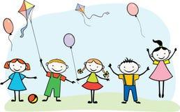 Crianças alegres ilustração do vetor