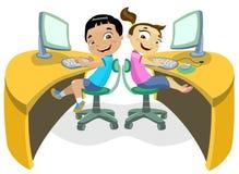 Crianças & tecnologia 2 Foto de Stock Royalty Free