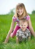Crianças ao ar livre Fotografia de Stock
