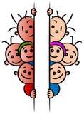 Crianças atrás de uma bandeira Imagem de Stock Royalty Free