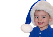 Crianças: Bebê azul de Santa Fotografia de Stock Royalty Free