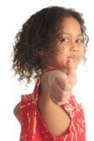 Crianças bonitas afro-americanas da menina com c preto Fotografia de Stock