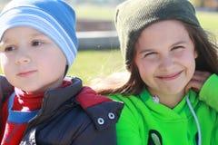 Crianças bonitas de sorriso Imagem de Stock