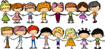 Crianças bonitos dos desenhos animados Imagens de Stock
