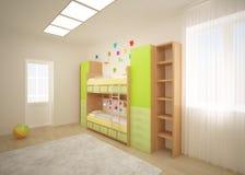 Crianças brilhantes interiores Fotos de Stock Royalty Free
