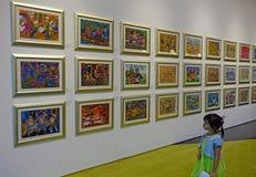 Crianças chinesas Art Exhibition imagem de stock royalty free