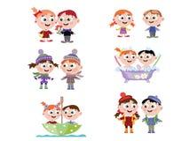 Crianças CMYK Foto de Stock