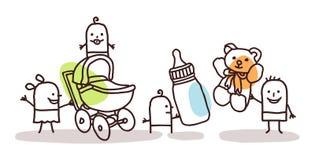 Crianças com acessórios ilustração stock