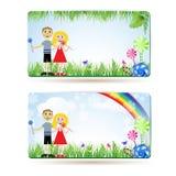 Crianças com doces Fotografia de Stock